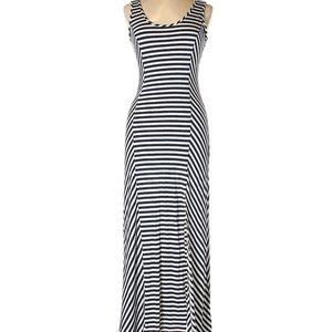 Navy & White Stripe Maxi Dress